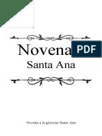 Novena a la gloriosa Santa Ana