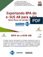 Apres eSUS - Orientação BPA