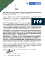 Carta de Consejero de la CRA a la Gobernadora Elsa Noguera