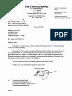 Letter to Saratoga Citizen 1-24-11