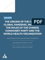 Final Minority Report on the Origins of the COVID-19 Global Pandemic Including the Roles of the CCP and WHO 9.20.20 (Coverpage)[1][1]