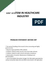 ERP IN HEALTHCARE INDUSTRY