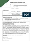 Projecto de Excelência ficha de registo Leitura CAF