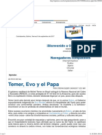 2017_Temer, Evo y el Papa