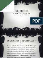 INSICIONES ABDOMINALES