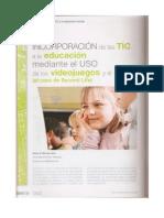 Incorporación de las TIC a la educación mediante el USO de los videojuegos y el chat (el caso de Second Life)