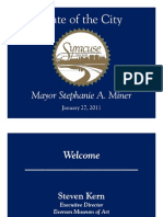 Power Point for 2011 State of the City Address by Syracuse Mayor Stephanie Miner