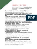 NORMAS ISO 9126 Y 25000