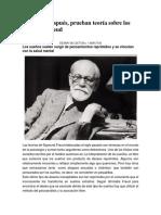 Cien años después la ciencia prueba la teoría de los sueños de Freud_