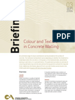 Briefing - Colouring & Texture In Concrete Walling