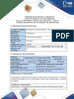 Guía de actividades y rúbrica de evaluación Fase 2 Realizar diagnóstico de necesidades de aprendizajee
