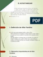 EL ALTAR FAMILIAR CAPACITACION 2 DE JULIO