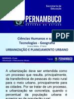 Urbanização e Planejamento Urbano