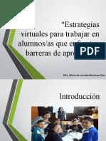 Estrategias Virtuales Para Trabajar Con Alumnos Que Enfrentan Barreras de Aprendizaje