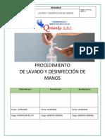 ESTANDAR de Lavado y Desinfección de Manos-QORIANKA