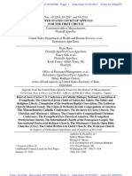 U.S. Conference of Catholic Bishops, et al, Amicus Brief- Mass DOMA Cases