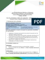 Guía de actividades y rúbrica de evaluación – Unidad 2 - Paso 3 - Proyecto Fase 2 manejo nutricional y reproductivo
