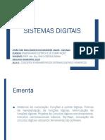 AULA 1 - CONCEITOS FUNDAMENTAIS DE SISTEMAS DIGITAIS E NÚMERICOS