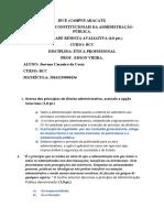 Avaliação BCC - ética profissional ( princípios constitucionais da Administração publica)