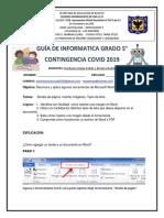 GUÍA DE INFORMATICA GRADO 5