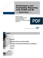 Performance and Availability Reporting with CCMS and Business Intelligence Overview