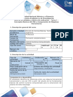 Guía de actividades y rúbrica de evaluación - Tarea 1 - Conceptos básicos del CNC y comparación de máquinas herramienta