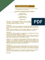 13.  Ley General de la Administración Pública