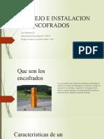 MANEJO E INSTALACION DE ENCOFRADOS