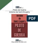 Saint Exupery, Antoine - Piloto De Guerra