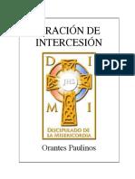 Oración de Intercesión del Discipulado de la Misericordia (DIMI)