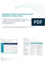 Measures of Mobility and Physical Ability Evaluated in Clinical Trials