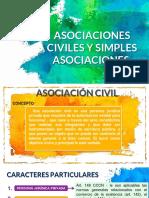 ASOCIACIONES CIVILES Y SIMPLES ASOCIACIONES