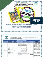 Cronograma de actividades a distancia 10-09-2020
