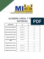 Algebra Lineal y Teoria Matricial