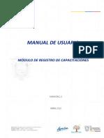 Manual -  Registro de Capacitaciones