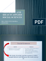 DISCIPLNE AND IDEAS IN APPLIED SOCIAL SCIENCES