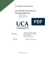 Informe de la Situación de la pobreza en Nicaragua 2001-2014. Maria Morales. Maria Zuñiga. Sofia Santamaria. Ricardo Orozco (1)