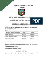 QUIMICA ANALITICA-DETERMINACION DE LA DUREZA DEL AGUA