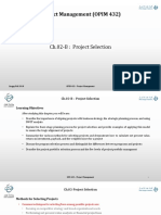 OPIM 432 Ch.02-B Project Selection