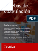 Pruebas de coagulación