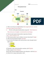 Photosynthesis Worksheet version 2 SHORT 2018 KEY