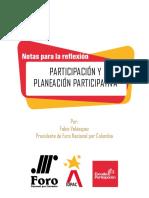 Participación y planeación participativa