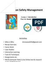 Lecture -1 Construction Safety Management