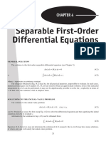 4. Separable First-Order Differential Equations