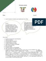 Evaluare inițială franceză