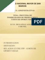 FRONTERA DE POSIBILIDADES DE PRODUCCIÓN Y COSTO DE OPORTUNIDAD