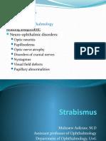 Strabismus for Med V
