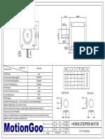 Motiongoo Stepper Motor Drawing-17HT19S6040