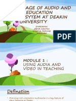 USAGE OF AUDIO AND IN EDUCATION SYSYTEM AT.pptx