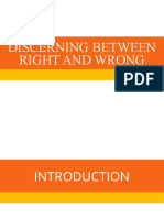 Discerning Between Right and Wrong